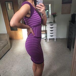 bebe Dresses - Bebe Purple Bandage Dress